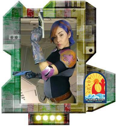 """Congratulations to Liz Perales for becoming an approved """"Star Wars Rebels"""" Rebel Legion Sabine!"""