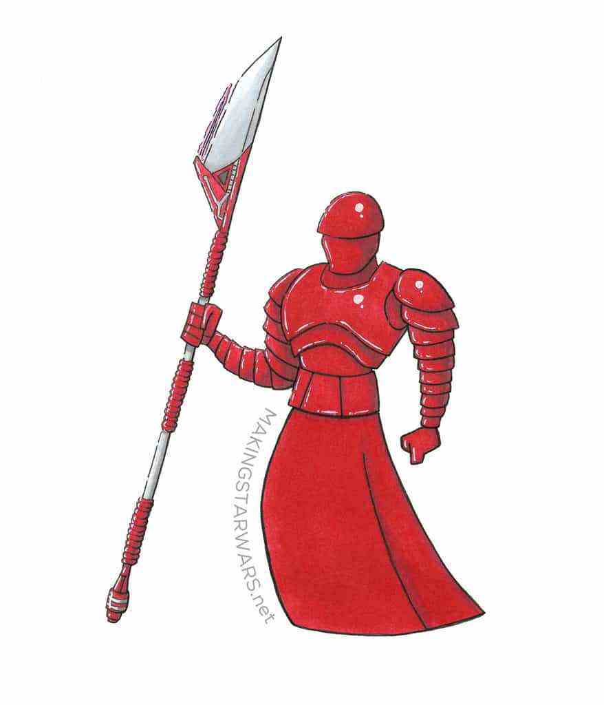 Our sketch of an Elite Praetorian Guard from Star Wars: The Last Jedi!
